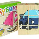 Кубики Транспорт 9 шт /00398/Томик