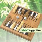 Нарды 12 см. (бамбук) /30492/Mi-toys