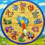 Пазлы часы с Жирафом /11682/ РТ