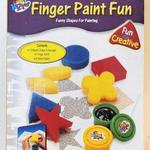 Набор пальчиковые краски 2 цв + штампы/22443/Galey