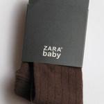 Колготки детские фактурные, коричневые, Zara