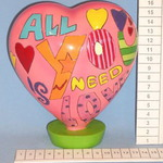 Сердце керамическое, 17см